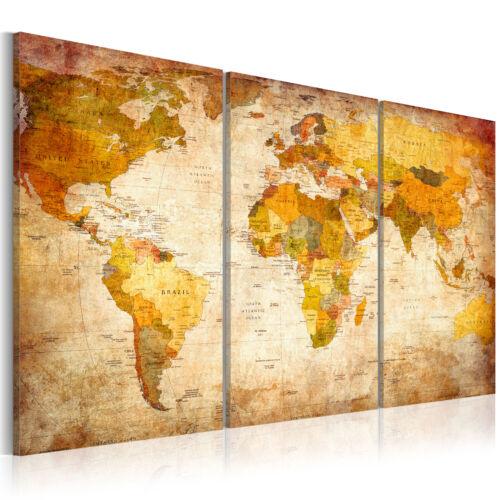 Wandbilder xxl Weltkarte Landkarte moderne Bilder Vlies Leinwandbilder 020213-4