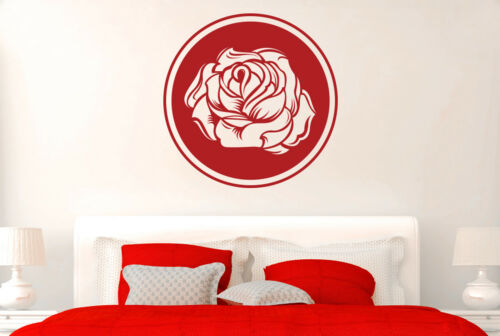Circular Sweet Rose Wall Stickers Vinyl Art Decals