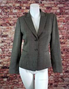 TAHARI Brown Wool Blazer Jacket Career Size 2