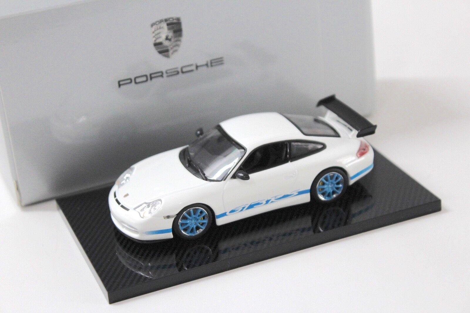1 43 Minichamps Porsche 911 996 gt3 rs blanc bleu NEW chez Premium-modelcars