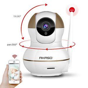 AKASO IP1M-902 720P HD WiFi IP Security Camera Wireless Network Pan/Tilt Outdoor