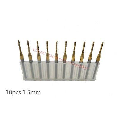 10pcs PCB Milling Cutter 1.3 mm Fräser Wolfram hm 3.175 mm CNC