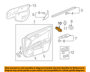Image Is Loading TOYOTA OEM 05 09 Avalon Front Door Window