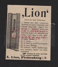 PLETTENBERG, Anzeige 1909, A. Lion Eisen-Messing-Beschläge