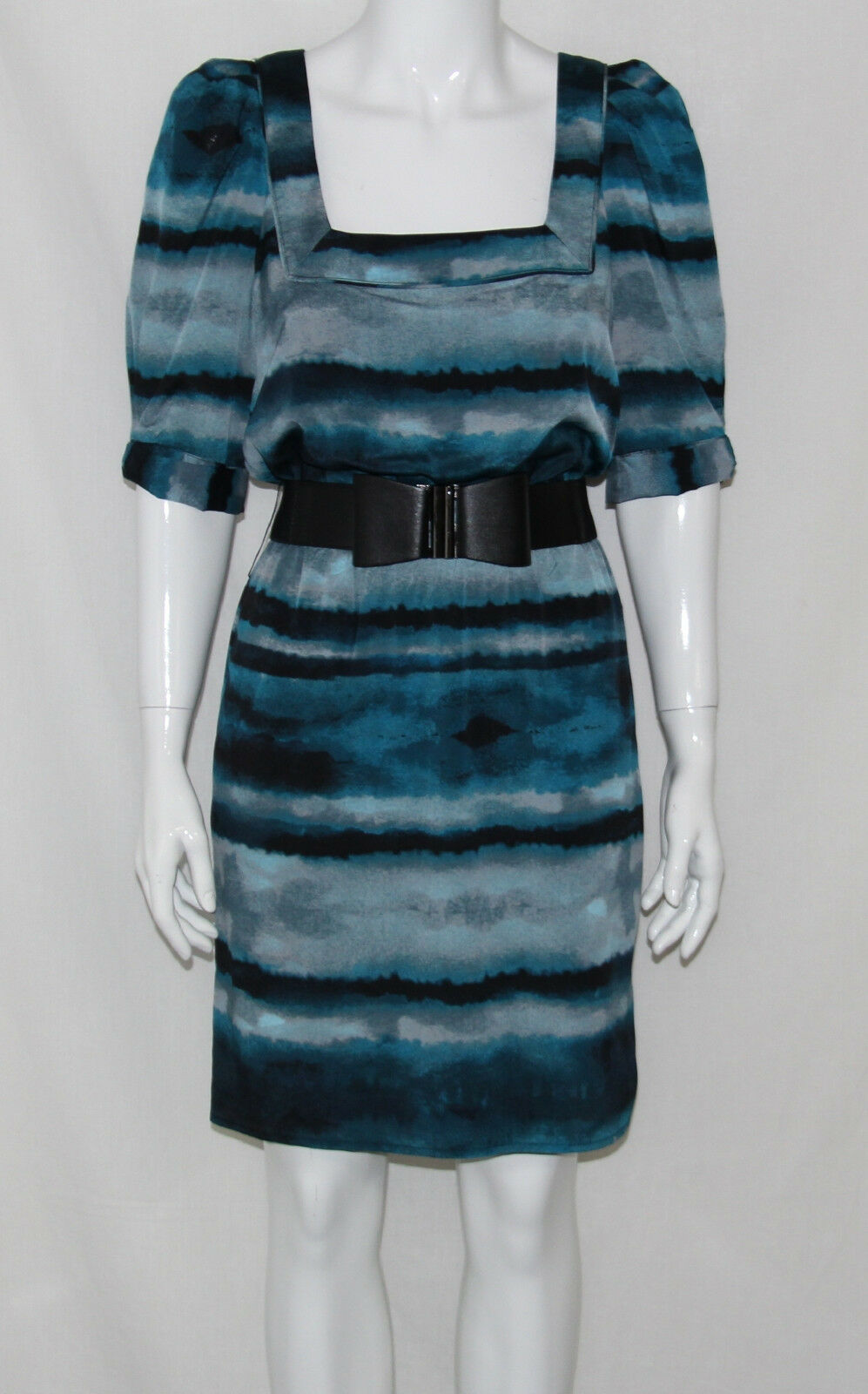 Jessica Simpson NEW Elbow Sleeve Belted Printed Blouson Dress REG 8