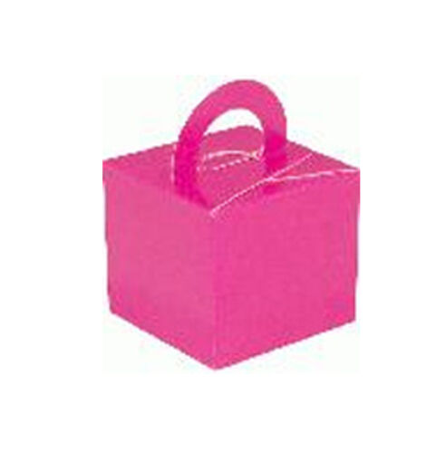 10 X COLOURED BALLOON WEIGHT BOXES Silver Black Lilac ivory etc Pink Gold