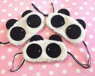 FD411 Women Girl Korea Eye Masks Cute Lolita Cartoon Panda Cotton Masks ~1PC