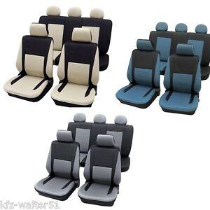 Fuer-MAZDA-121-Sitzbezuege-Schonbezuege-Elegance-blau-beige-grau