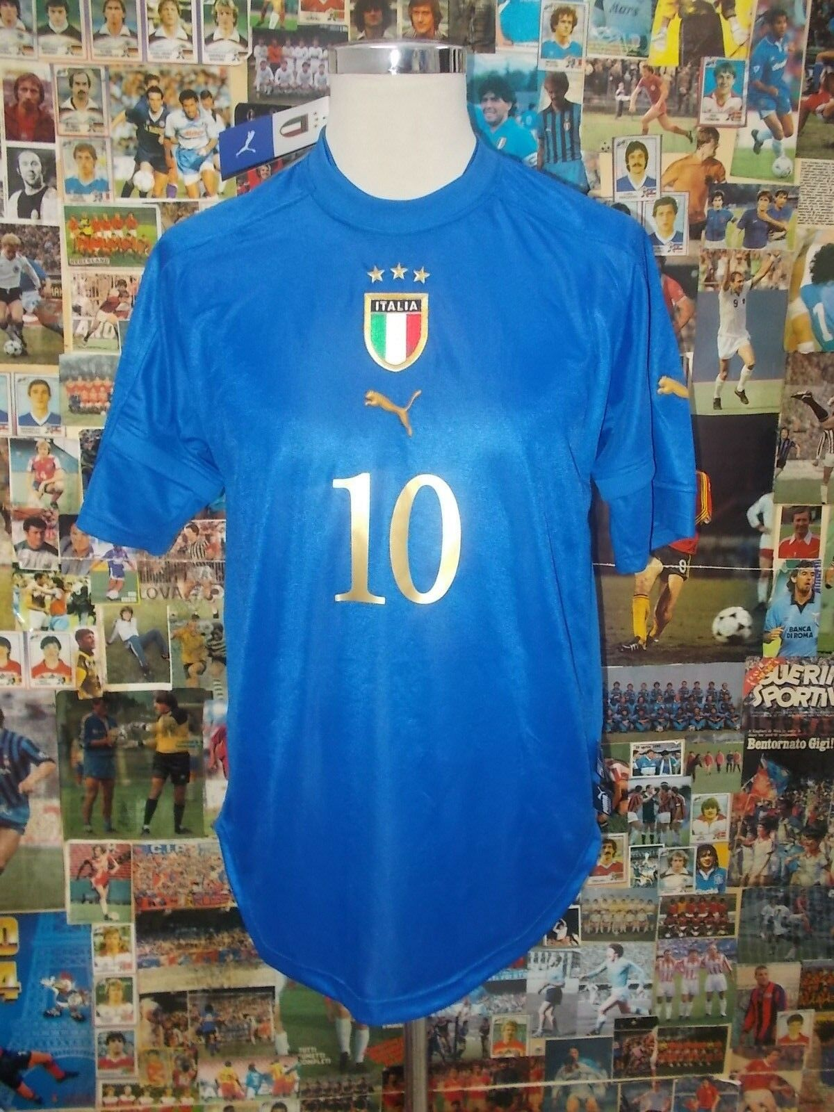 Maglia calcio shirt shirt shirt maillot trikot camiseta ITALIA BAGGIO TG M 2004 NUOVA NEW TA 332485