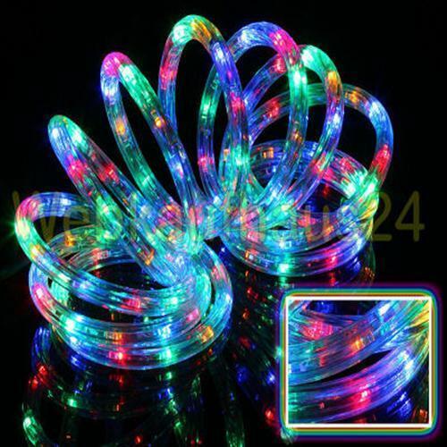 10M LED Lichterschlauch Schlauch Leiste Strip IP44 Stripes Lichtschlauch Bunt