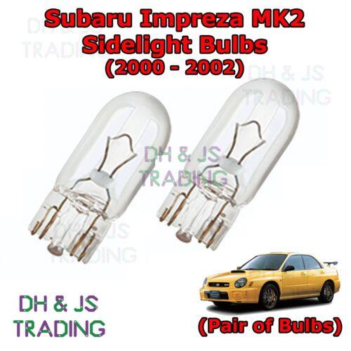 Park Lights Side Light Bulb Bulbs MK2 Subaru Impreza Front Sidelights 00-02