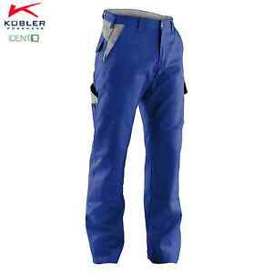 Bundhose-Arbeitshose-IDENTIQ-COTTON-Kuebler-Form-2044-Groessen-40-118-Blau-Grau