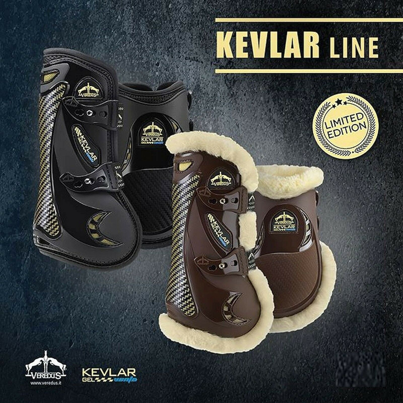 Veredus Carbon Gel Vento Professional Tendon Boots STS with KEVLAR® Predection
