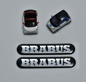 Smart-Mercedes-450-451-453-454-Brabus-Stickers-adesivo-nero-cromo-cupola-2x
