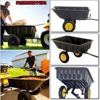 Lawn Tractor Garden Steel Utility Hauling Atv Trailer Cart Heavy Duty Yard Home