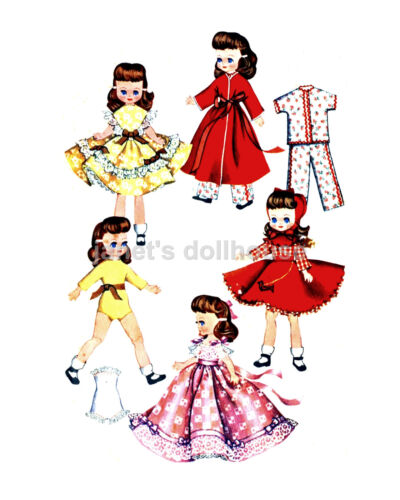 Vintage Repros on CD+19 FREE Over 80 complete DOLL patterns LOT of 400 Outfits