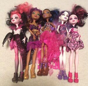 Monster-High-Dolls-Lot-of-5-Rebecca-Steam-Draculaura-Spectra-Vondergeist