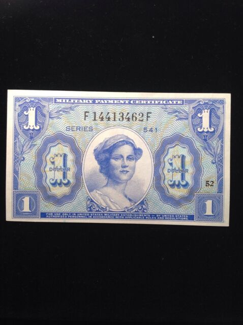 1958 $1 Dollar Military Payment Certificate Choice Unc. Series 541 52 Nice Note