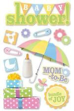 PAPER HOUSE BABY SHOWER MOM-TO-BE PREGNANCY DIMENSIONAL 3D SCRAPBOOK STICKERS