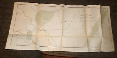 Large Map Plate of Nicaragua Route (1897-1901) Isthmian Canal Comm #35