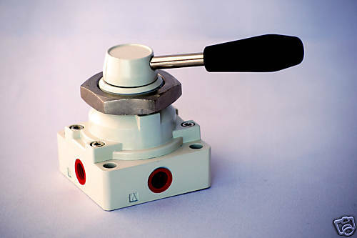 """1pc 4 2 Way Hand Operated Lever Air Valve 3//8/"""" NPT Detent MettleAir 4HV310-10"""
