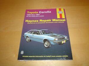 haynes toyota corolla gt s ae86 80 87 owners repair service rh ebay ie Toyota Corolla Service Diagrams 2013 Toyota Corolla Repair Manual