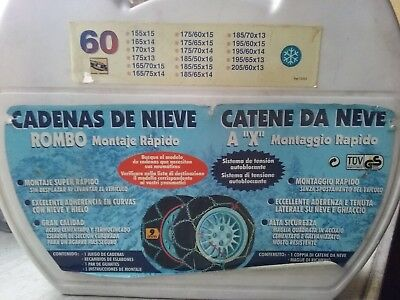 vidaXL 2X Cadenas de Nieve para Ruedas de Coche 9 mm KN60 Cami/ón Neum/áticos