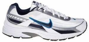 Mens-Nike-Initiator-Running-Shoes-White-Navy-Blue-Grey-Gray-394055-101