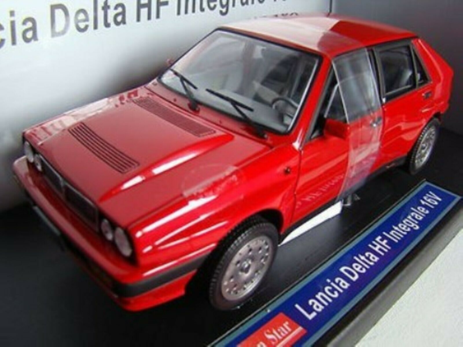 WOW EXTREMELY RARE Lancia Delta HF Integrale 16V Turbo 1989 Red 1 18 Sun Star