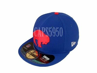 New Era Buffalo Bills 59Fifty Fitted Hat NFL Football Flat Bill Baseball Caps 5950
