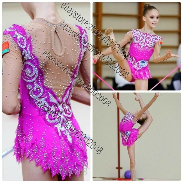 Rhythmic Gymnastics Leotard,Acrobatic Baton Twirling  Tap Ice Dance Costume  perfect