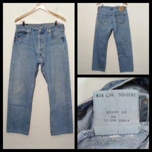 a131c2917c6 Levis 501 Jeans USA Hemmed Men's Measured 33x30 Tag-36x36 Killer ...