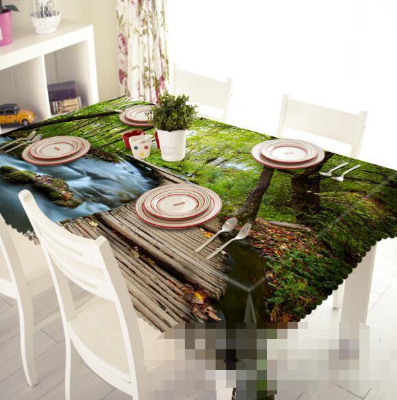 3D Bridge 54 Tablecloth Table Cover Cloth Birthday Party Event AJ WALLPAPER AU
