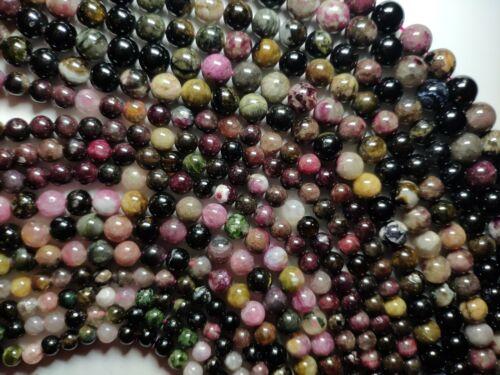 Stoneuniverse ~ coloré Tourmaline a Gemme Perles Strang 6//8//10mm