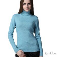 Jpcloth Warm Wool Pullover Jumper Girls Plain Winter Ladies ...