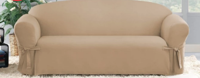 Sure Fit Cotton Duck Sofa Slipcover In