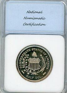 1947-C-Smith-SC-50C-General-Robert-E-Lee-Confederate-Half-Medal-GEM-PROOF