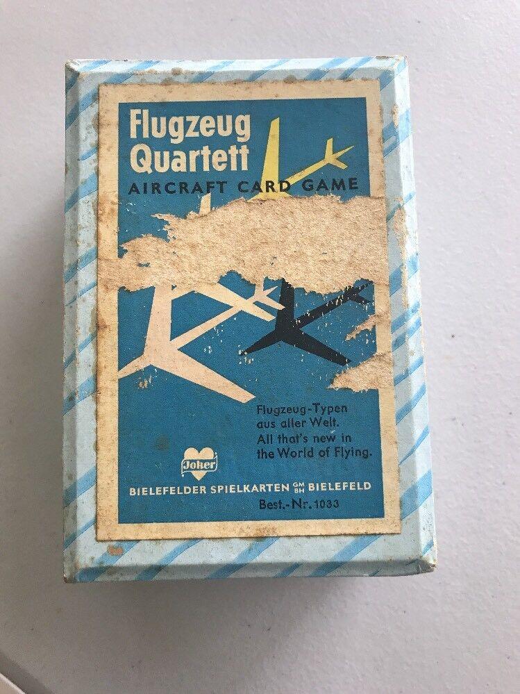 FLUGZEUG QUARTETT AIRCRAFT CARD GAME VINTAGE PRINTED IN GEMANY CIRCA 1960's  (36