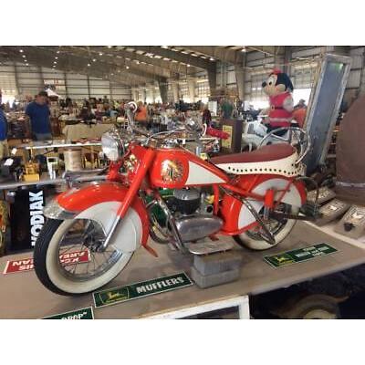 "Vintage Lenearts Belgium ""Mini"" INDIAN Kiddie Carnival Ride Motorcycle--RARE!"