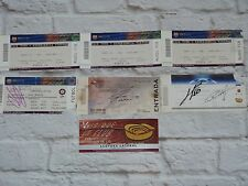 Set 7 tickets FC BARCELONA fcb Barca Barcelone signed MESSI ABIDAL HENRY ...
