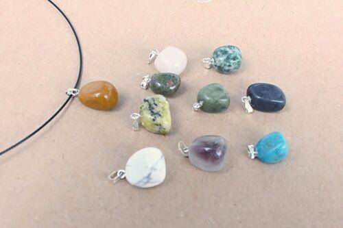 color de diferentes 10 St piedras preciosas mlm-16 remolque con 1x halsreif