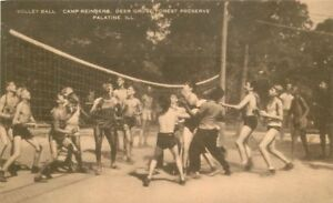 Artvue-Camp-Reinberg-Deer-Grove-Forest-1930s-Palatine-Illinois-Volleyball-10568