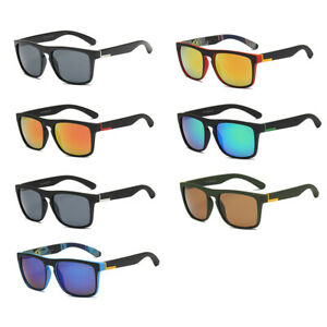 a0ce4a6ae5dd Image is loading Square-Mirrored-Sunglasses-Men-Outdoor-Sports-Driving- Fishing-