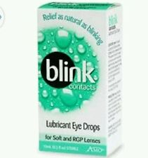 2x AMO Blink Contacts Lubricating Eye Drops Moisturize for Soft &RGP Lenses 10ml