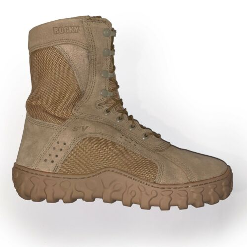 Rocky S2V  TACTICAL MILITARY BOOT Regular and wide sizes. Desert Tan
