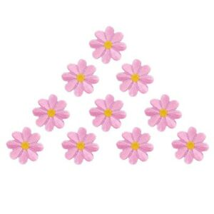 10pcs-Embroidered-Applique-Flower-Patches-Sewing-Craft-Decoration-Pink-I5A3