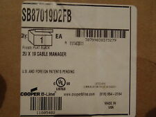 """COOPER 2U X 19""""  CABLE MANAGER FLAT BLACK SB87019D2FB NEW!"""