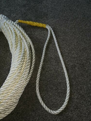 30m of Nylon Anchor Rope  10mm 3 Strand With Galvanised Thimble spliced  boat