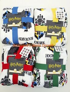 PRIMARK-HARRY-POTTER-ALL-HOUSE-SUPER-SOFT-FLEECE-BLANKET-THROW-120cm-x-150cm