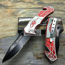 TAC-FORCE Spider Grey/Red Hunting Survival Camping Rescue Pocket Knife TF-553GR